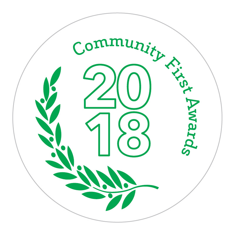 The community first awards logo