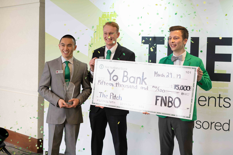 The winners of The Pitch, Team YoBank